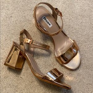DUNE LONDON New Rose Gold Sandals
